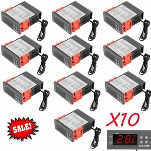 10x Universal Stc 1000 Digital Temperature Controller Thermostat Sensor 110v Se