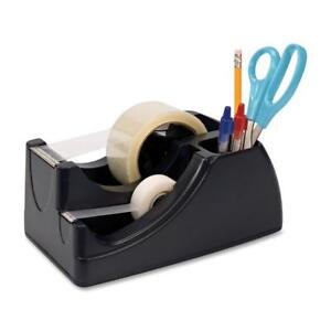 Officemate Recycled 2 in 1 Heavy Duty Tape Dispenser Black 96690