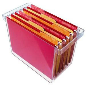 Clear Plastic Hanging File Organizer Holds 8 5 X 11 Hanging File Folders