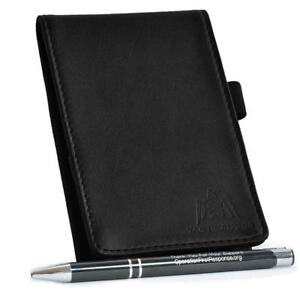 Tactical 365 Operation First Response Deluxe Leather Memo Pad Holder Black