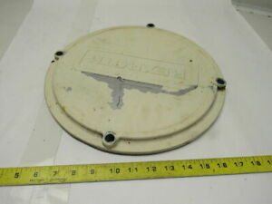 Hydraulic Tank Cleaning access Cover W rexroth Logo 4 Bolt 13 3 4 Diam