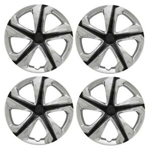 New 2016 2017 Honda Civic 16 5 Spoke Chrome Black Hubcap Wheelcover Set Of 4