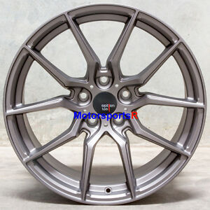 Option Lab R716 18 X 9 5 22 Gray Rims Wheels 5x114 3 Mitsubishi Evolution X Mr