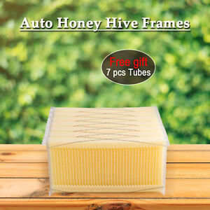 7pcs bee Comb Honey Hive Frames Auto Honey Beekeeping Beehive