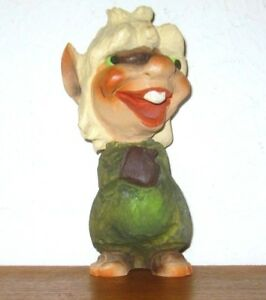 Vintage Norwegian Carved And Painted Wooden Troll Pixie Gnome Henning Norway