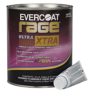 Evercoat Rage Ultra Xtra Premium Body Filler 0 8 Gallon Made In Usa Me 144