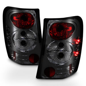 Smoked For 1999 2004 Jeep Grand Cherokee Euro Tail Lights Brake Lamps Left right