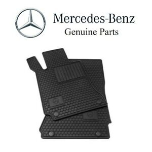 For Mercedes R171 Slk class All Season Black Rubber Floor Mats Genuine Q6680700