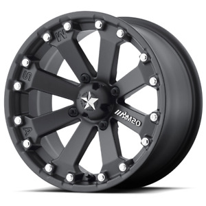Set 4 14x7 4 3 4x115 Msa M20 Kore Silver Flat Black Wheels Rims 14 Inch 46829