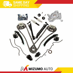 Timing Chain Kit Cam Phaser Selenoid Oil Pump Fit 04 10 Ford 5 4 Triton 3 Valve