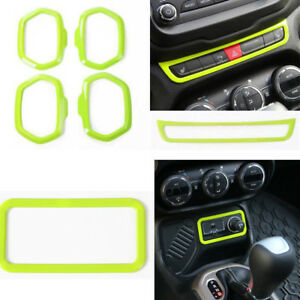 Car Interior Warning Light Cigarette Lighter Door Speaker Trim For Jeep Renegade