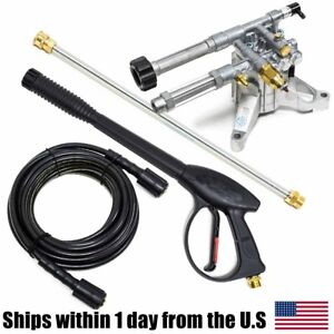Ar Pump Rmw22g24 ez 2400 Psi Pressure Washer Pump Wand Hose Spray Gun Kit