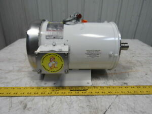Leeson 7 5hp 3505rpm 208 230 460v 3ph Electric Washdown Motor Nxs213tc Frame
