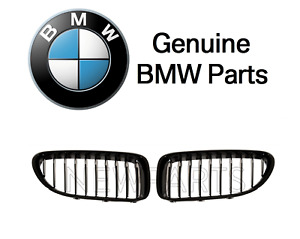 For Bmw F32 F33 4 series Set Of 2 Front Grilles M Performance Gloss Black Oes