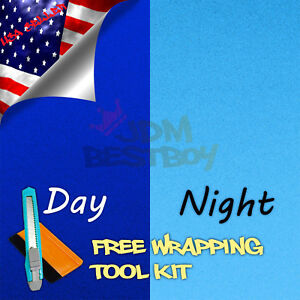48 x60 Reflective Blue Vinyl Wrap Sticker Decal Graphic Sign Car Adhesive Film
