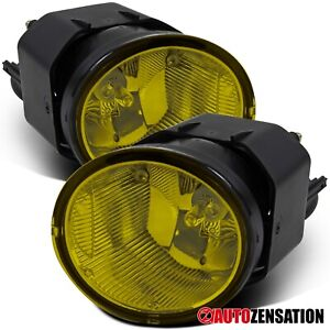 For 2001 2003 Nissan Maxima Sentra Frontier Yellow Fog Lights Lamps switch