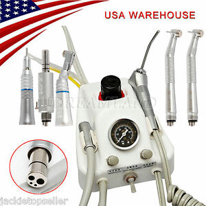 Portable Dental Turbine Unit Work Compressor High Low Speed Handpiece Kit K5t