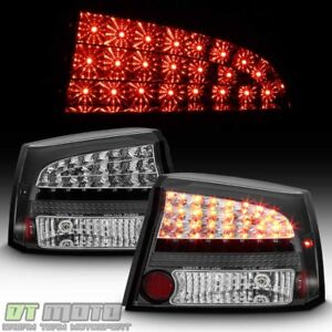 Black 2006 2008 Dodge Charger Philips Led Perform Tail Lights Lamps Left Right