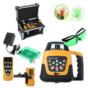 Self leveling 360 Rotary Green Beam Laser Level 500m Range W Case 500m