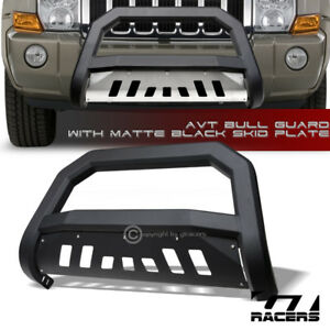 For 2005 2007 Jeep Grand Cherokee Commander Matte Blk Avt Bull Bar Bumper Guard