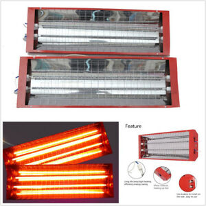 2 Set 2000w 220v Car Spray Baking Booth Infrared Paint Curing Heating Lights Red