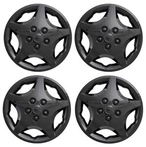 New 2000 2005 Chevy Cavalier 14 Hubcaps Wheelcover Black Set