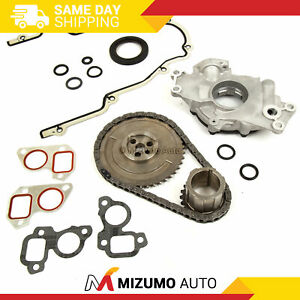 Timing Chain Kit Cover Gasket Oil Pump Fit 97 04 Cadillac Chevrolet 4 8 5 3 6 0
