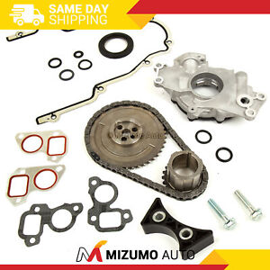 Timing Chain Kit Cover Gasket Oil Pump Fit 03 07 Cadillac Buick Gmc 4 8 5 3 6 0