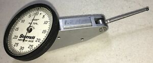 Starrett 709l Dial Test Indicator 0005 Grads 0 30 0 Dial 1 1 4 Carbide Contact