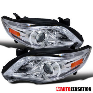 For 2011 2013 Toyota Corolla Led Drl Strip Clear Projector Headlights Lamps Pair