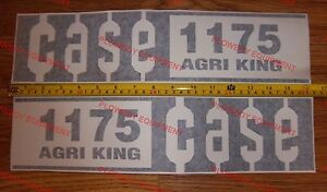 C1175 New Hood Decal Set For Case Tractor 1175 Agri King