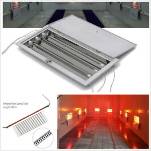 2 Sets 3000w Car Suv Spray Baking Booth Oven Infrared Paint Heater Lights 220v