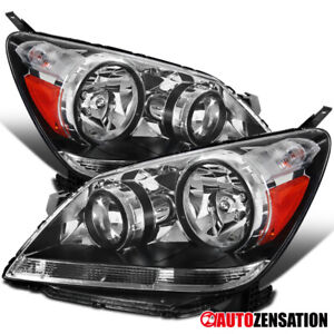 For 2005 2007 Honda Odyssey Clear Lens Headlights Lamps Left Right Pair Amber