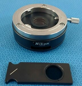 Nikon Slide In Out Microscope Adapter With Nd Neutral Density Filter Optiphot