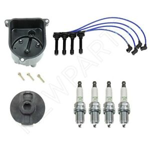 Ignition Kit Distributor Cap Rotor W Spark Plugs Wires For Honda Acura