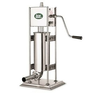 1112 Lem Products 10 Pound Dual Gear Ss Vertical Sausage Stuffer
