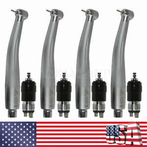 4 Dental Nsk Style High Speed Handpiece W 4 holes Quick Coupler Coupling Black