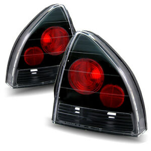 For 92 96 Honda Prelude Performance Black Tail Lights Lamp Replacement Set Lh rh