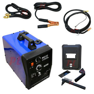 Electric 110v Mig 140 Welder Welding Soldering Machine Rod 90 Amp 115 Vac No Gas