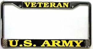 Us Army Veteran Metal License Plate Frame Made In The Usa