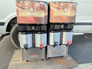 2 Bunn Lca 2ic Commercial Iced Coffee Coffee Dispensers Machine Ice