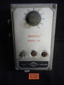 Dana seco Bronco Dc Drive Model 110 On off 0 100