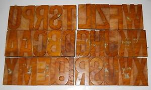 India 30 vintage Letterpress Wood Type English Alphabets Nicely Hand Crafted 5