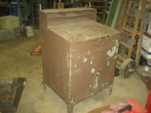Shipping Receiving Metal Table Desk With Doors Drawer And Shelf Heavy Duty