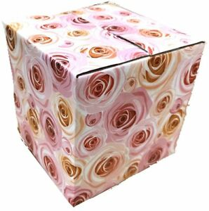 4x4x4 Rose Designer Boxes Corrugated Cardboard Box Shipping Cartons Mailers