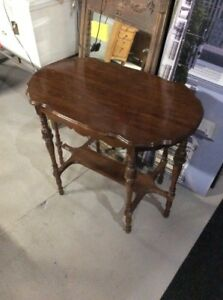 Antique Vintage Carved Wood Ornate Entry Accent Table