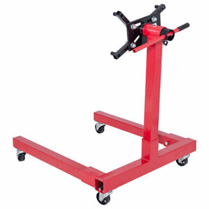 1250lb Portable Rotating Car Automotive Shop Small Block Engine Stand Hoist Lift