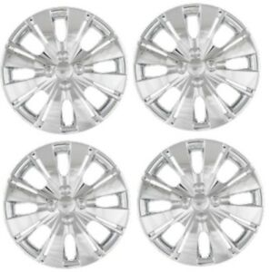 2012 2014 Toyota Yaris 15 Chrome Hubcap Wheelcover Set