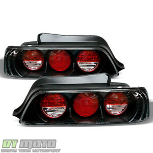 For Black 1997 1998 1999 2000 2001 Honda Prelude Tail Lights Lamps Left right
