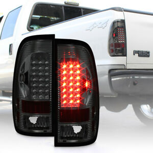 Smoked 1997 2003 Ford 150 99 07 F250 F350 Superduty Led Tail Lights Brake Lamps